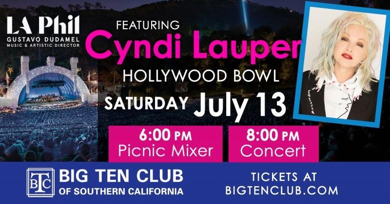 Cyndi Lauper at the Hollywood Bowl